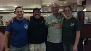Medders, Jablin, Powell and Barrier.  The December 2012 Class for HSA at the Academy of Scuba